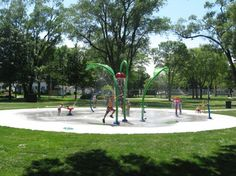 American Legion Park, 301 Vine Street  Spray ground Open daily from Memorial Day to Labor Day, 11AM to 7PM, weather permitting   To conserve water, the sprays are activated by users during open hours.  There is a button that activates the sprays in 10-minute intervals.