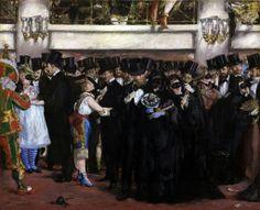 Edouard Manet - Masked Ball at the Opera, 1873