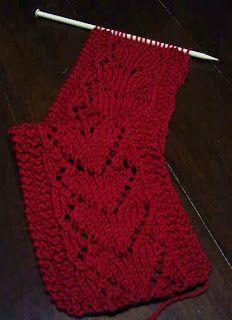 cachecol de corações | Mademoiselle et le tricot