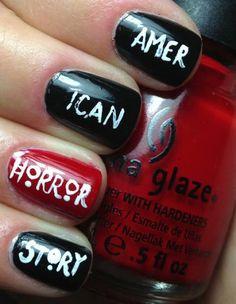 TV-Inspired Nail Design Ideas | Divine #nails #nailart #polish #nailpolish #designs #americanhorrorstory