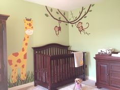 My sister in- law Baby's room done by her  mommy! Amazing work. #jungle