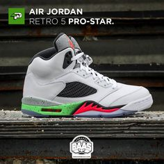 "#umpman23 #airjordan #jordan #retro5 #poison #prostar #sneakerbaas #baasbovenbaas  Air Jordan Retro 5 ""Pro-Star"" - Now Last sizes available!  For more info about your order please send an e-mail to webshop #sneakerbaas.com!"