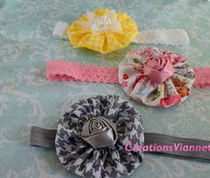 A personal favorite from my Etsy shop https://www.etsy.com/listing/540854619/baby-headband-3-set-hair-band-baby-girls