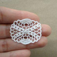 Miniaturas crochet tapete oval  1:12 modelo en miniatura