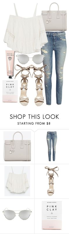 """""""Untitled #19837"""" by florencia95 ❤ liked on Polyvore featuring Yves Saint Laurent, H&M, Zara, Steve Madden, Chicnova Fashion, Herbivore Botanicals and Bobbi Brown Cosmetics"""