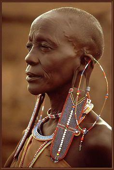 ©Erich Rohrauer, Kenya. Masai woman, Mara on ArtStack #c-erich-rohrauer #art