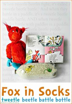 Tweedle Beetle Battle Bottle Game, Fox in Socks, Dr. Seuss quick and cheap activity