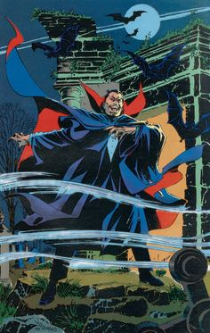 alexhchung:  Dracula pin up by Bill Reinhold from Marvel Fanfare #45