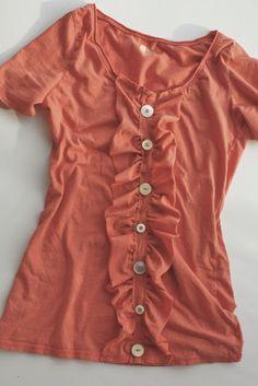 ~Ruffles And Stuff~: Ruffly Shirt Refashion