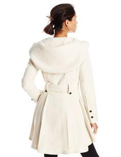 $98.99 Steve Madden Women's Single Breasted Wool Coat at Amazon Women's Coats Shop