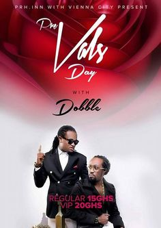 The 'Good Mood' hit makers Dobble are set to host a pre-valentine bash for fans on the 13th of February at the Vienna City Accra.In a chat with the organizers of the event they disclosed that they pre-Vals jam is to bridge the gap between Dobble and their fans for ...