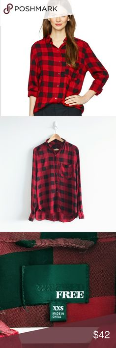 Aritzia Rollinson Blouse Wilfred Free This shirt style is a closet staple and the material is incredibly soft. Used in good condition. Product description- A casual and relaxed plaid button-up in a boyfriend fit makes for the ultimate laid-back look. This is an essential. Made from a drapey rayon fabric that is lightweight and soft. 100% Rayon Aritzia Tops Blouses