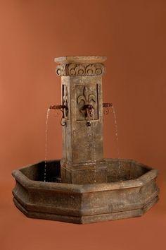 Awesome Fleur de Lis Fountain