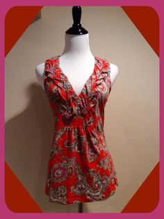 "Orange ANTHROPOLOGIE Top by ""AKEMI + KIN"" Size Small #Anthropologie #TankCami #Casual"