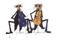 Cellisten. Michael Ferner. Postkaart