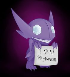This Sableye who isn't fed enough. | 21 Pokémon Being Publicly Shamed By Their Trainers