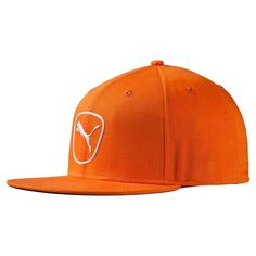Puma Golf Vibrant Orange White Cat Patch 2.0 Snapback Cap 479fb2cdbf