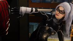 Black Cat from Spiderman Spiderman Black Cat, Black Cat Marvel, Ancient Symbols, Marvel Characters, Black Silver, Leather Pants, Ps4, Playstation, Felicia