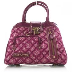 2803c8b05a7d This is an authentic LOUIS VUITTON Monogram Quilted Denim Linda Fuchsia LTD  ED. This is