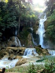 Kwang Si Waterfalls after the wet season.