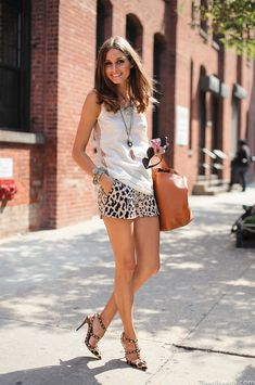 Olivia Palermo.. little leopard shorts.