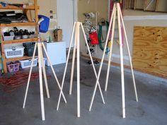 DIY triangular Christmas Trees craft for outdoors