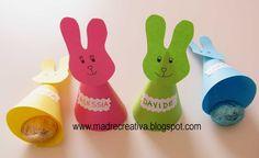Febbraio #Vogliadi #Pasqua - MadreCreativa: Pasqua: coniglietti segnaposto con sorpresa - #Easter bunnies placeholder with surprise