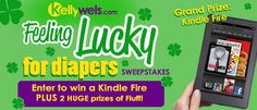 Feeling Lucky for Diapers Sweepstakes! Enter to win a Kindle Fire and lots of cloth diapers!