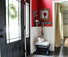 our fifth house: HOUSE TOUR - making use of wall space in entry way
