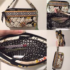 Vera Bradley Wristlet (NWT) Fabric Wristlet / Wallet with zipper pocket and credit or business card slots. | Style Name: Dogwood | Never Used | FIRM PRICE Vera Bradley Bags Clutches & Wristlets