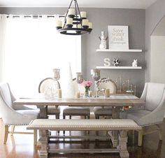 Pair traditional dining chairs with a rustic table for a Shabby Chic ...