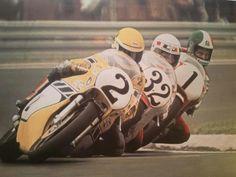 Kenny Roberts, Stevie Baker, Giacomo Agostini