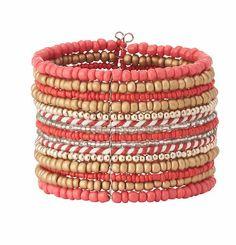 Seed Bead Cuff Bracelet   Loft