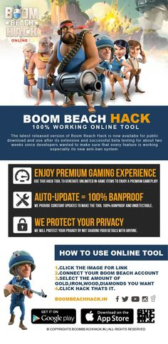 Boom Beach Hacks / Generator - No Download #boombeach #boombeachteam #boombeachfreediamonds #boombeachhack #boombeachhacktool #boombeachparty #boombeachcheats #boom_beach  INFINITE Resources GENERATOR! Obtain Diamonds, Gold Along with WOOD! Visit The web link Here http://instantgiftcards.club/boomb/boomb.html