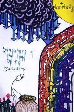 ink and sunshine Melancholy, Sunshine, Rainbow, Calligraphy, Ink, Feelings, Happy, Rain Bow, Rainbows