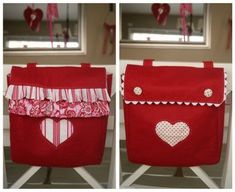 Valentine Chair Back Bag Sewing Pattern (a.k.a. Kidlet :: Wall Pocket-Tidy Tote)