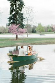 Denver Rowboat Engagement Session - Style Me Pretty