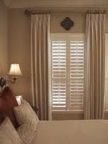 drapes and shutters (similar look)