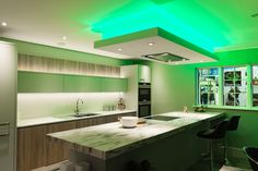 Your guests would be green with envy at these amazing LED lights. BLOG: http://www.jshouseofdesign.co.uk/Blog/Post/1615/How-to-refurbish-your-kitchen #KitchenRefurbishment #KitchenRefurb #KitchenRenovation #NewKitchen #KitchenLighting