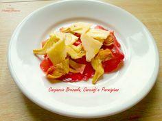 Il Carpaccio bresaola carciofi parmigiano è una ricetta molto sfiziosa, leggera e nutriente, perfetta per un pasto facile e veloce senza rinunciare al gusto.