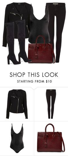 """Sin título #12130"" by vany-alvarado ❤ liked on Polyvore featuring Levi's, Yves Saint Laurent and Steve Madden"
