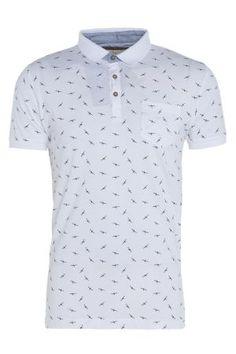 Mens Bird Print Polo Shirt £11 #Poloshirt #Swallow #mensfashion #bravesoul http://www.bravesoul.co.uk/shop/clothing/mens-bird-print-polo-shirt?colour=White