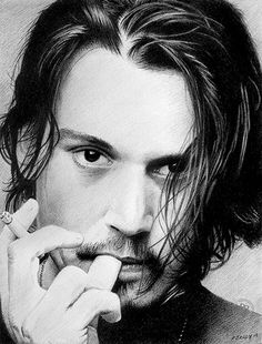 Johnny Depp--pretty much the only man who can look sexy with a cigarette in his hand.