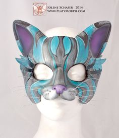 Blue and Grey Cheshire Cat Leather Alice in by PlatyMorph on Etsy