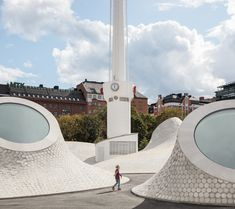 underground art museum 'amos rex' transforms helsinki square into landscape of skylights Helsinki, Design Museum, Art Museum, Landscape Architecture Design, Futuristic Architecture, Architecture Details, White Building, Contemporary Landscape, Built Environment
