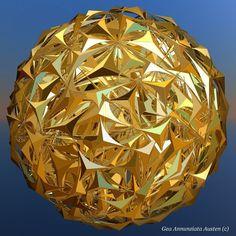 Gold Fractal Sphere