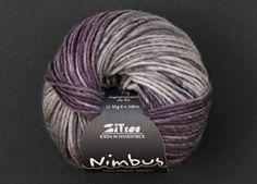 Nimbus, Garne, Atelier, Purple Gray, Breien, Action