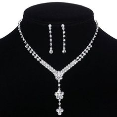 Yazilind Clear Crystal Silver Plated Flower Y-Shaped Bridal Jewelry Sets Necklace and Earrings Yazilind http://www.amazon.com/dp/B00NQIVPM0/ref=cm_sw_r_pi_dp_meZVub19QX19D
