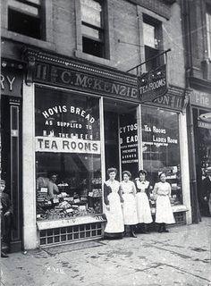 C McKenzie & Son, baker's shop and tea room, 11 Argyll Street, c 1898
