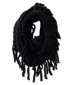 """Season after season, our Open-Knit Fringed Infinity Scarf promises classic style and total comfort! It's made of incredibly soft, lightweight knit fabric and features plenty of fringes for fun boho sass.<br><br>Width: 15""""<br>Style: 9636. Imported.<br><br>100% acrylic.<br>Hand wash/dry flat."""